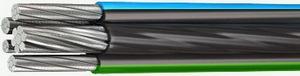Провод самонесущий изолированный с основными алюминиевыми токопроводящими жилами