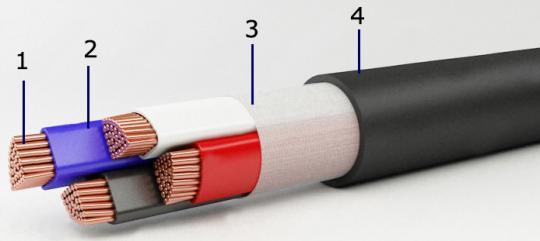 Силовой кабель ВВГНГ-LS-1